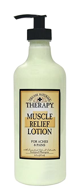 The Village Company Muscle Therapy Relief Natural Lotion, 16 Ounce