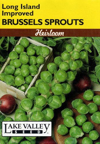 Lake Valley 57 Brussels Sprouts Long Island Improved Heirloom Seed Packet