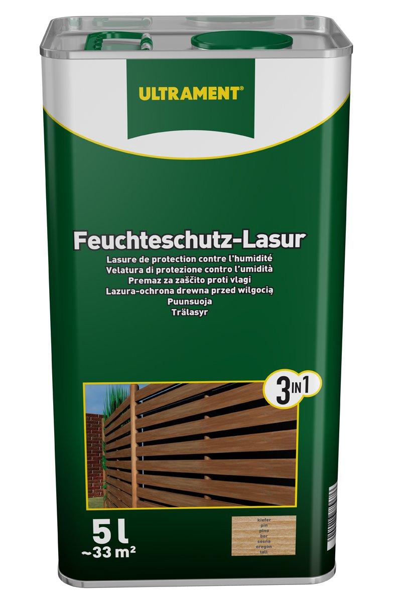 Ultrament 68248980195208 Feuchteschutz-Lasur 5 Liter