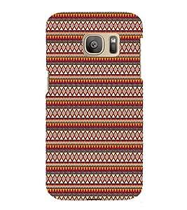 Checks Diamond Pattern 3D Hard Polycarbonate Designer Back Case Cover for Samsung Galaxy S7 :: Samsung Galaxy S7 Duos G930F