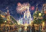 西洋絵画 ディズニー Main Street U.S.A.,Walt Disney World 42x30cm ウォルトディズニーワールド メインストリート シンデレラ 城 トーマスキンケード [並行輸入品]