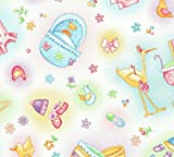 SheetWorld Fitted Pack N Play (Graco) Sheet - Baby Girl Toys - Flannel - Made In USA