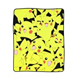BIOWORLD Pokémon Pikachu All Over Print Fleece Throw Blanket, 48