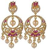 Violet & Purple Gold Alloy Dangle & Drop Earrings for Women (1000030749)