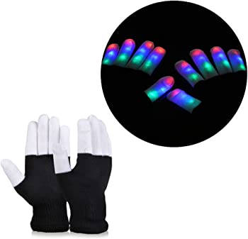 Vbiger LED Light Flashing Gloves