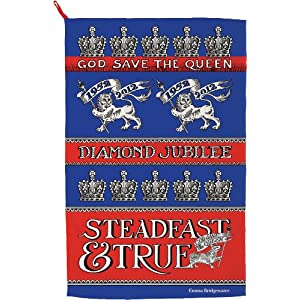 Emma Bridgewater Diamond Jubilee Queen Elizabeth II Dish Cloth (Steadfast and True)