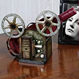 Vintage Film Reel Metal Wine Holder