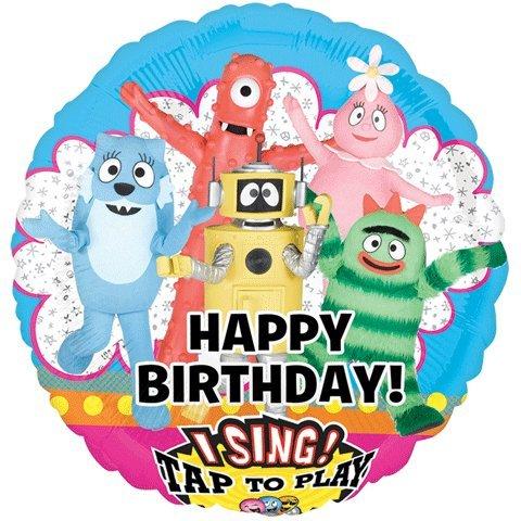 """Yo Gabba Gabba Birthday Sing-A-Tune 28"""" Mylar Foil Balloon"""