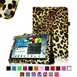 Fintie Slim Fit Folio Case Cover For Samsung Galaxy Note 10.1 Inch Tablet N8000 N8010 N8013 - Leopard Brown
