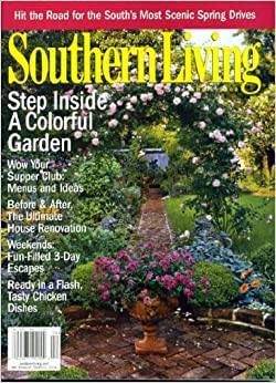 Southern living april 2002 colorful garden on cover menus Southern living garden book