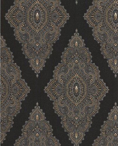 "Barock Tapete Hermitage Vii : Vlies-Tapete \""Jewel Black & Gold\"" Kollektion JmD – Fabulous 31-166"