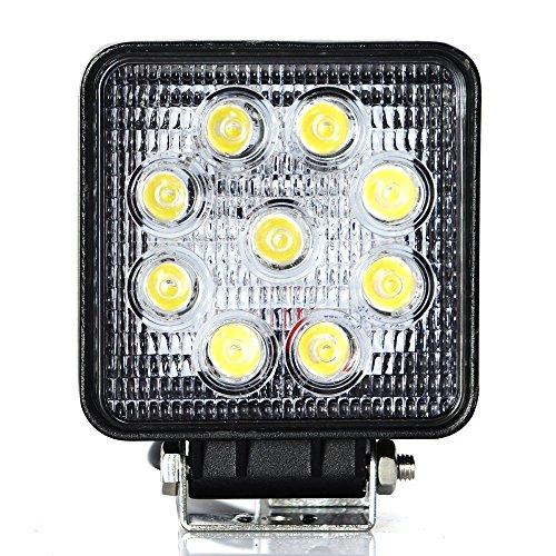 Zxmoto 27W Square Led Work Light 30 Degree Spot Pencil Beam Offroad Lamp Truck Jeep 4X4 Suv Atv Utv-2Pcs