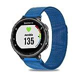 C2D JOY Milanese Watch Band for Garmin Forerunner 235 Bands Replacement Watchband, Blue Regular (Tamaño: Regular)