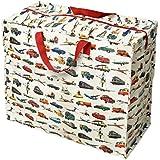 dotcomgiftshop Vintage Transport Design Recycled Reusable Laundry Jumbo Storage Bag