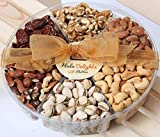 Deluxe Roasted Nut Gift Tray 6-Section - Hula Delights