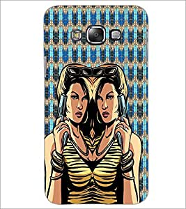 PrintDhaba Girl with Gun D-4045 Back Case Cover for SAMSUNG GALAXY A8 (Multi-Coloured)