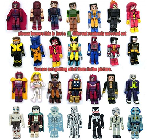 Lot of 10 Lego Minimates Marvel DC X-Men Lotor Super Hero Random Action Figure (Lego Star Wars Characters Package compare prices)