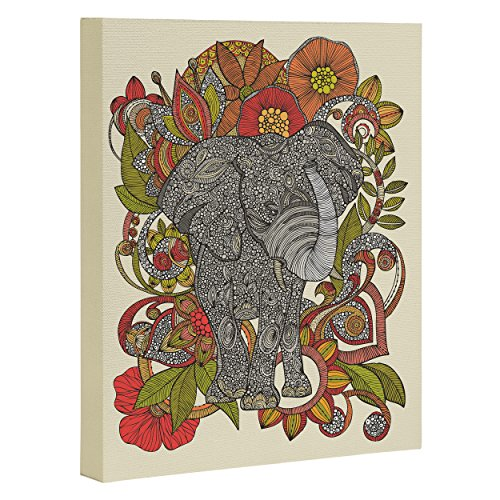 "DENY Designs Valentina Ramos Bo The Elephant Art Canvas, 24"" x 30"""