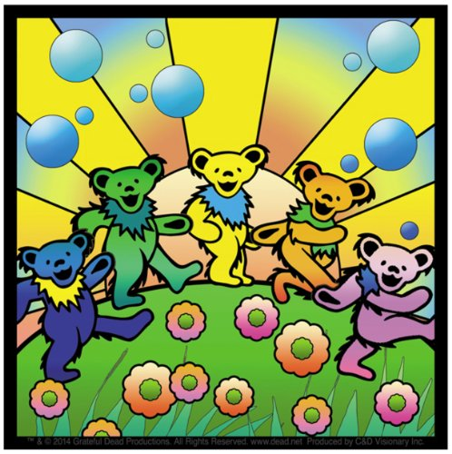 Licenses Products S-7905 Grateful Dead Dancing Bears On Sticker