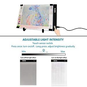 Mlife Diamond Painting A4 LED Light Pad - Dimmable Light Board Kit