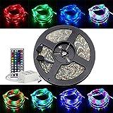 ELlight 3528 RGB SMD 5M/Roll 16.5ft 300Led 60Led/M Flexible Waterproof Strip Lamp Lights+LED 44Key Controller