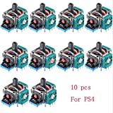 10 x Analog 3D Joystick Thumbstick Wireless Controller Rocker for Playstation 4 PS4 Controller Replacement