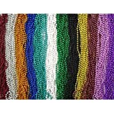 """144 Piece ~ Beaded Necklace Assortment ~ 33"""" ~ Assorted Colors ~ New ~ Mardi Gras, Party Favors"""
