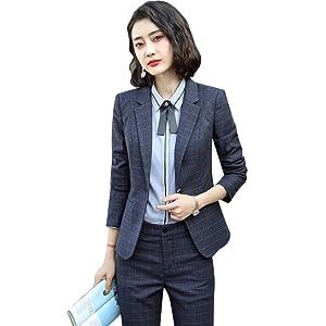 チェックスーツジャケットレデイースビジネス服OL出勤服入学卒業式スーツセット