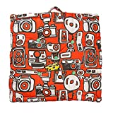 "Chumbak Camera Cotton Floor Cushion - 24""x24"", Multicolour"