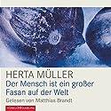 Der Mensch ist ein großer Fasan auf der Welt Hörbuch von Herta Müller Gesprochen von: Matthias Brandt
