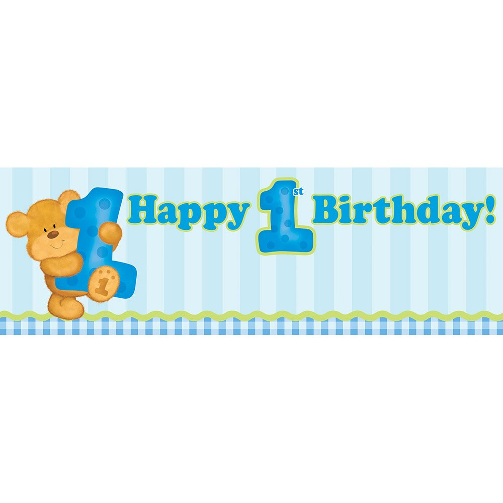 Boys First Birthday Party Banners