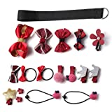 Kaiercat Hair Accessories, Cute Hair Bows Clips Set for Baby Little Girls or Pets (Red) (Color: Red, Tamaño: 4.3*3.9*1.6 inch)