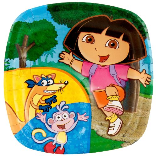 Dora the Explorer Pocket Dessert Plates (8 count)