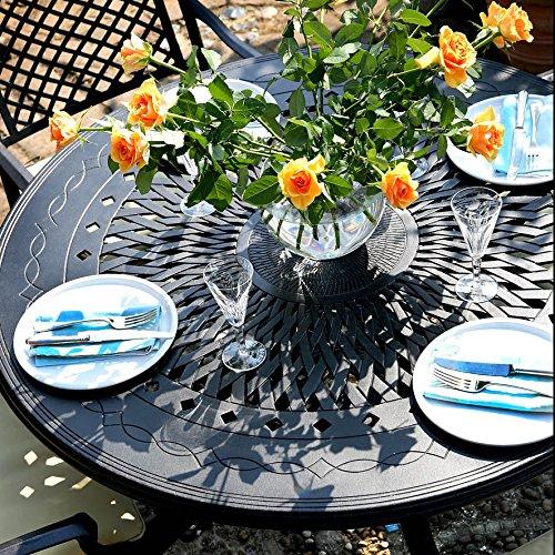 Amy 120cm Rundes Gartenmöbelset – 1 AMY Tisch + 4 MARY Stühle jetzt bestellen