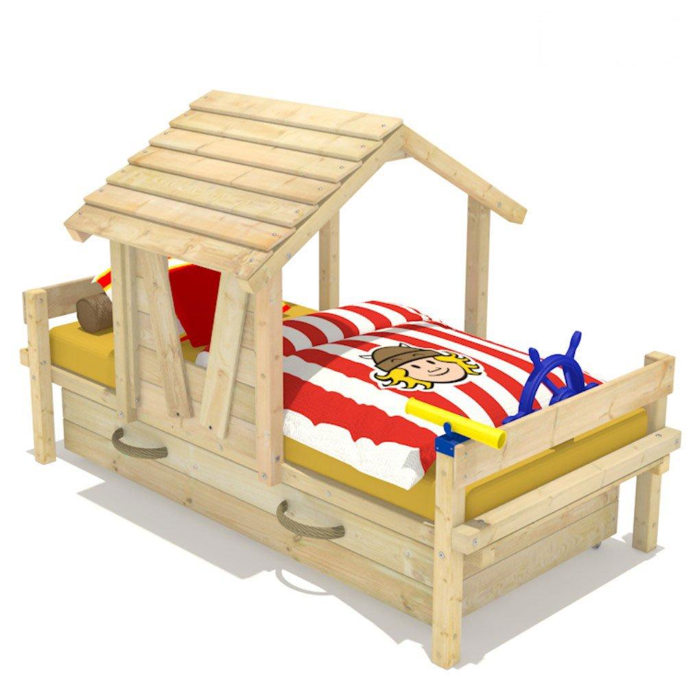 Wickeydream Spielbett Kinderbett Abenteuerbett Party House inkl. Lattenrost 90x200cm günstig