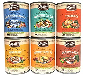 Merrick Grain Free Wet Dog Food Variety Pack, 6 Flavors, 13.2-Ounces Each (6 Total Cans)