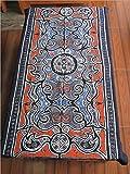 Natural World - Chinese Ethnic Handmade Batik Painting Tablecloth Decor 33x64 Orange