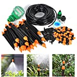 Auto Drip Irrigation Kit- 82FT Irrigation Pipe, Irrigation Spray ,Irrigation Timer , Perfect Irrigation Systems for Flower Bed, Patio, Garden Greenhouse Plants