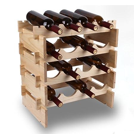 MEIDUO Vino Bastidores Arte de madera de una sola capa del segundo piso tres capas de cuatro capas superpuestas gabinete del vino Decoración ( Tamaño : Four layers )