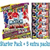 Topps Match Attax 2014 2015 Starter Binder Pack + 50 extra cards (5 boosters)