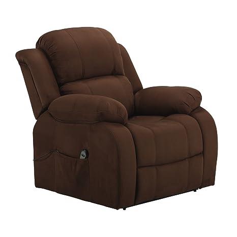 Fernsehsessel mit Aufstehhilfe elektrisch motorig Relaxsessel TV Sessel braun Mikrofaser