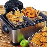Secura Stainless-Steel Triple-Basket Electric Deep Fryer