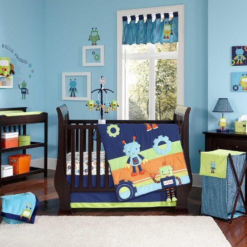 NoJo Baby Bots Crib Bedding Set - 1