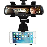 INCART Car Mount/Car Rearview Mirror Mount Truck Auto Bracket Holder Cradle for iPhone 7/6/6s Plus, Samsung, GPS/PDA / MP3 / MP4 Devices (Black) (Color: Black-Rearview-Mirror-Mount)