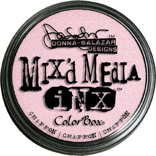 Mix'd Media Inx by Donna Salazar Rubber Stamp Ink Pads, Chiffon Color