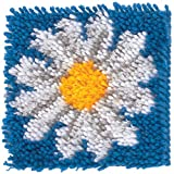 Spinrite Acrylic Blend Wonderart Latch Hook Kit 8 inch x 8 inch Daisy