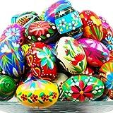 Pysanky (Pisanki) Handpainted Polish Wooden Easter Eggs - Bakers Dozen (13)