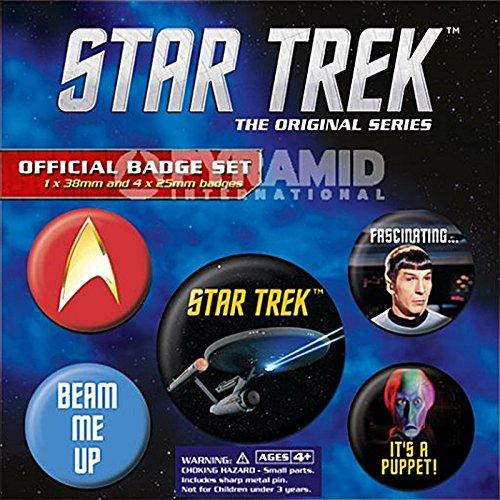 Set di 5 spille a bottone Star Trek (PY)