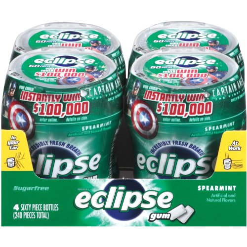Best Price Eclipse Big E Spearmint Gum 60-Count Pieces Pack of 4B001D3K2GA