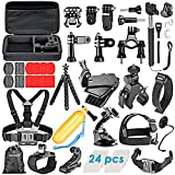 Neewer 58-in-1acción cámara Kit de accesorios para GoPro Hero 4/5sesión, hero 1/2/3/3Plus/4/5, SJ4000/5000, Xiaomi Yi, Nikon y Sony deportes DV en la natación remo escalada Bike Riding camping Buceo y más